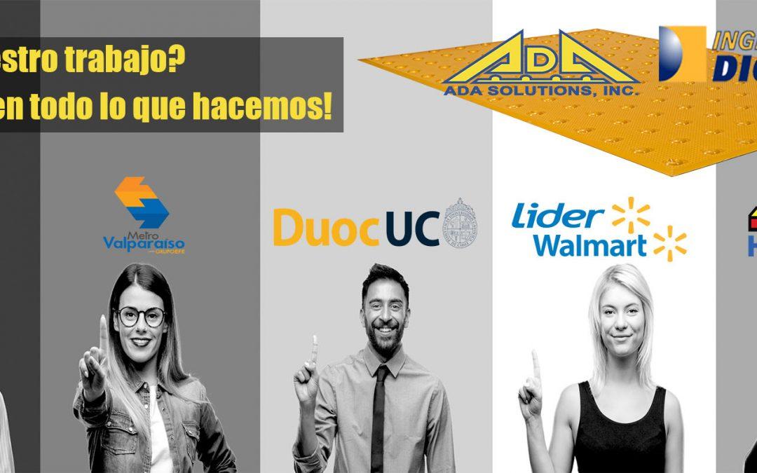 Paneles podotáctiles ADA Solutions: ¡Los únicos probados por DICTUC!