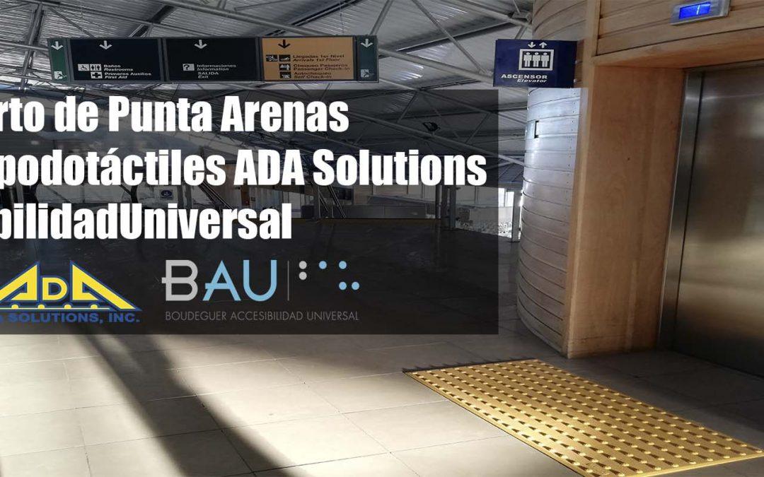 ¡Paneles podotáctiles ADA Solutions en el Aeropuerto de Punta Arenas!