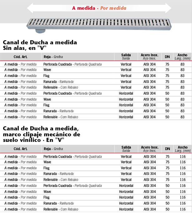 Canal-de-Ducha-Classic-a-medida-