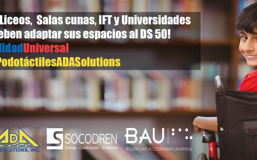 Paneles podotáctiles ADA Solutions para los Centros Educacionales