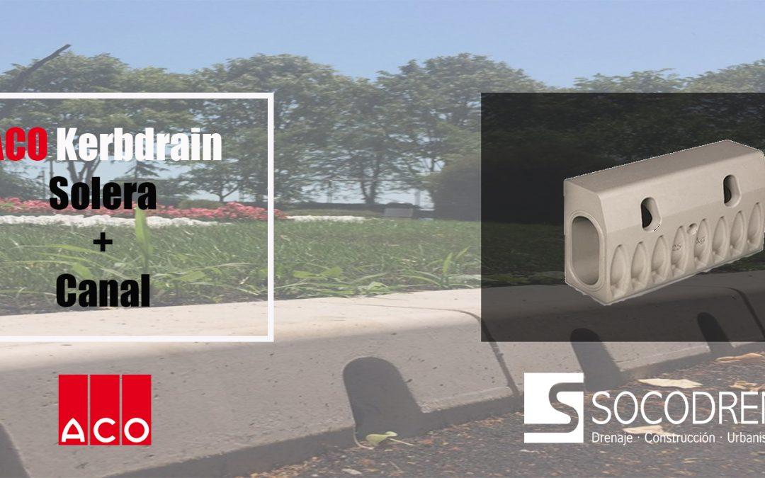 ACO Kerbdrain: una solera + canal que evita inundaciones.