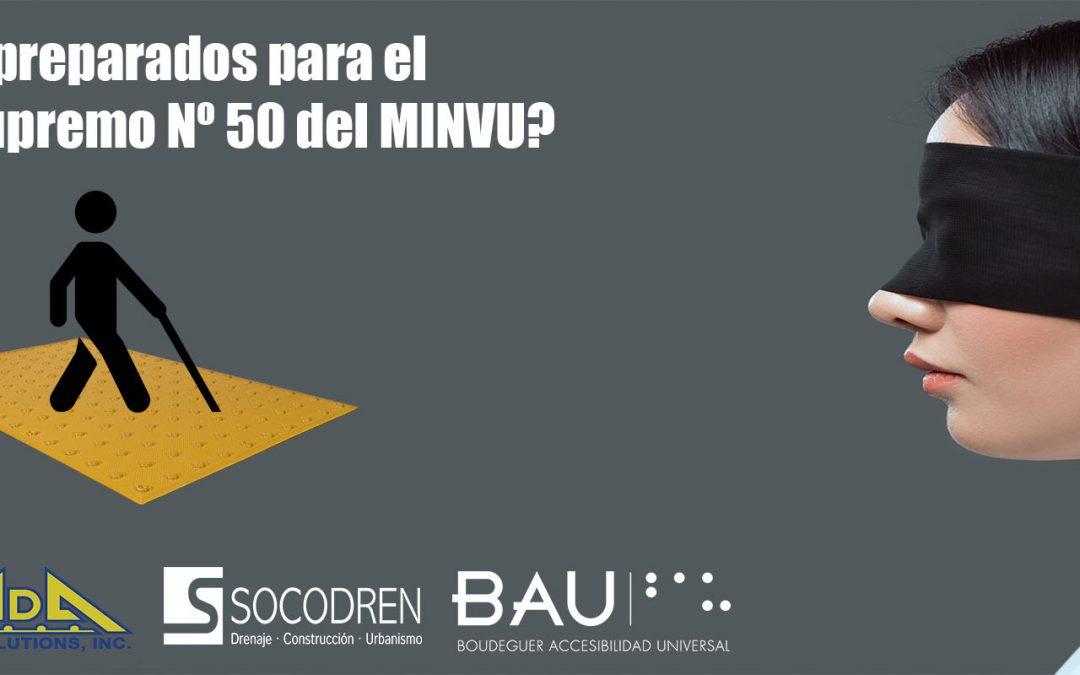Paneles podotáctiles ADA Solutions para el Decreto Supremo Nº 50 del MINVU