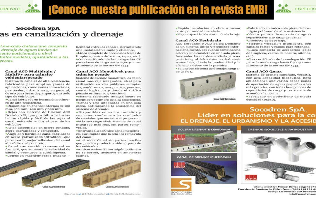 ¡Conoce nuestra nueva publicación en la revista EMB Construcción!
