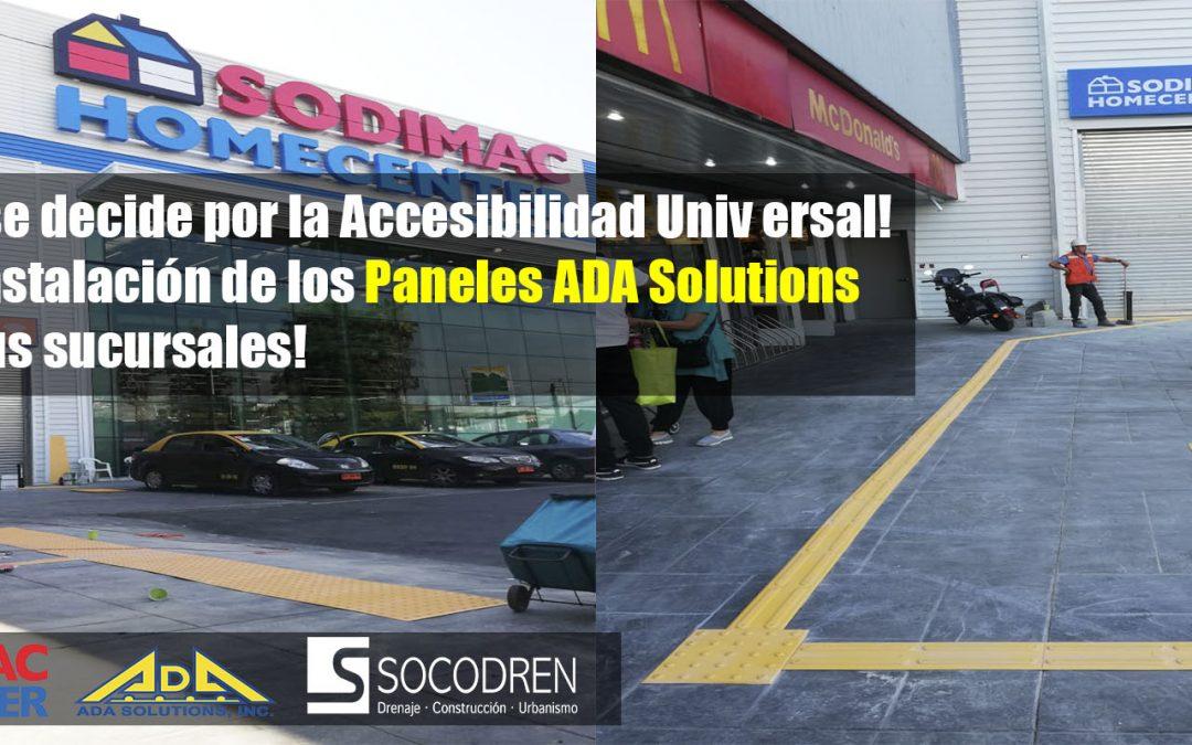 ¡Primeros paneles podotáctiles ADA Solutions en SODIMAC HOMECENTER!