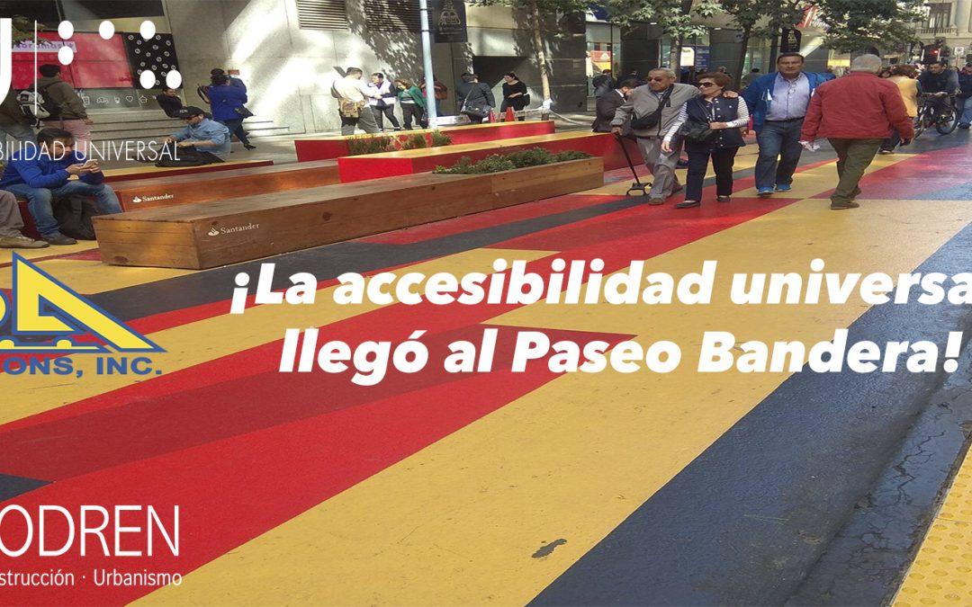 ¡La accesibilidad universal llegó al Paseo Bandera!